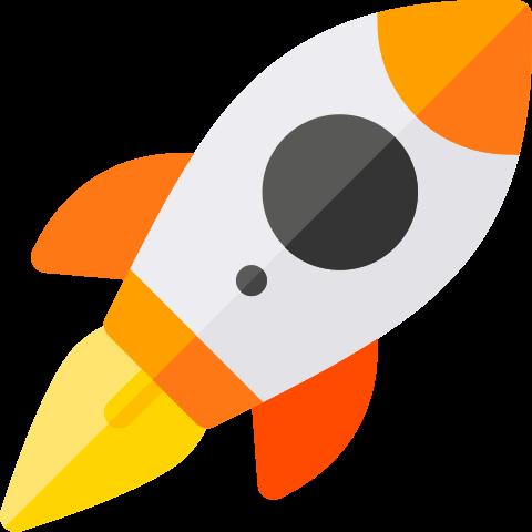 Fusée en lancement
