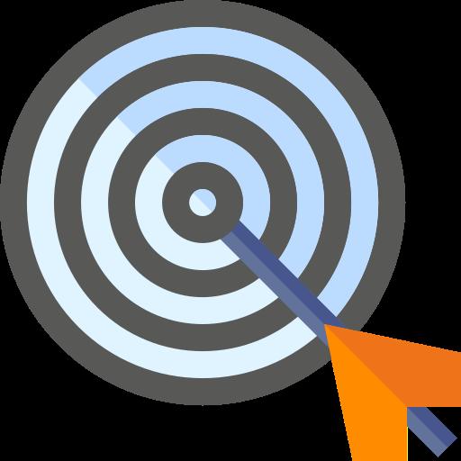 Cible avec flèche au centre